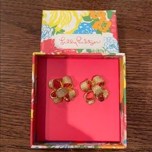 Lilly Pulitzer post bow earrings